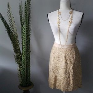 kate spade gold sequin and thread tweed skirt